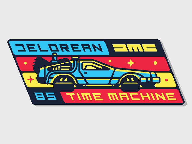 Delorean Time Machine Badge Delorean Time Machine Delorean Travel Stickers