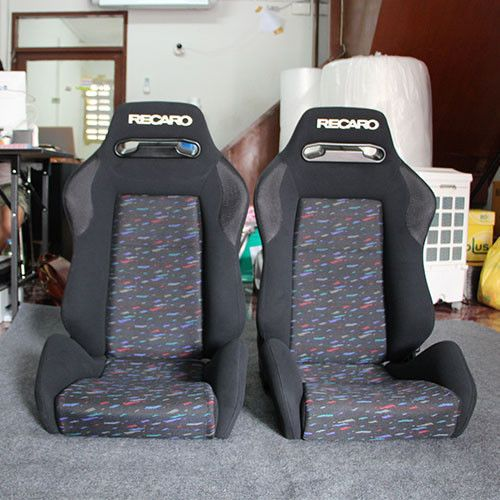 Details About 2 Jdm Recaro Sr3 Black Leather Reclinable