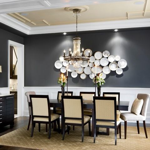 Kendall Charcoal Benjamin Moore Design Ideas Pictures Remodel And Decor No Dishes On Traditional Dining RoomsTraditional
