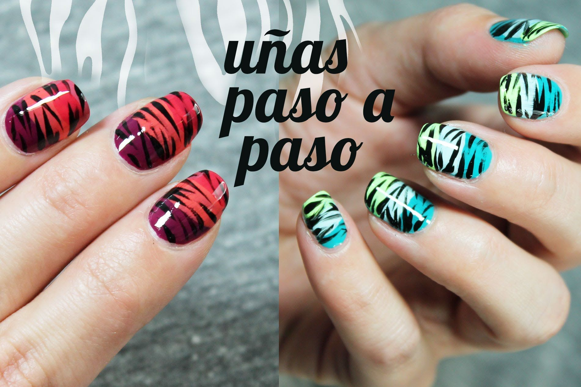 2 IDEAS PARA PINTAR TUS UÑAS ¡MUY FÁCIL! Paso a paso | uñas | Pinterest