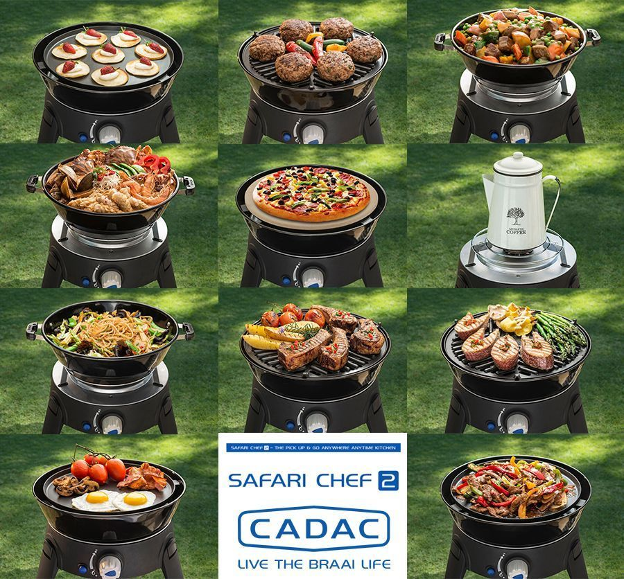 The Cadac Safari Chef 2 Is A Portable And Versatile Gas Bbq Weighing Less Than 4kg It Includes Four Interchangeable Cooki Best Gas Grills Gas Grill Grilling