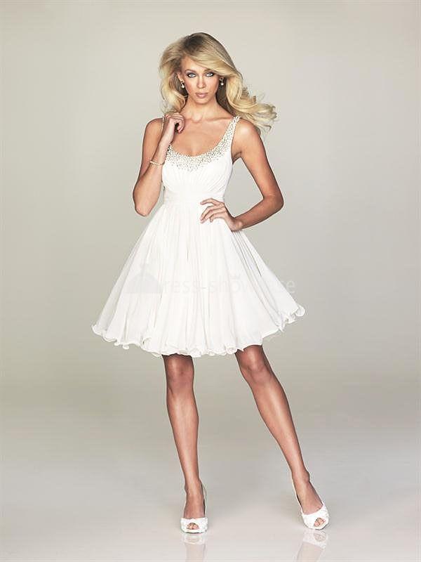 short white dresses - short white cocktail dress - janell wedding ...