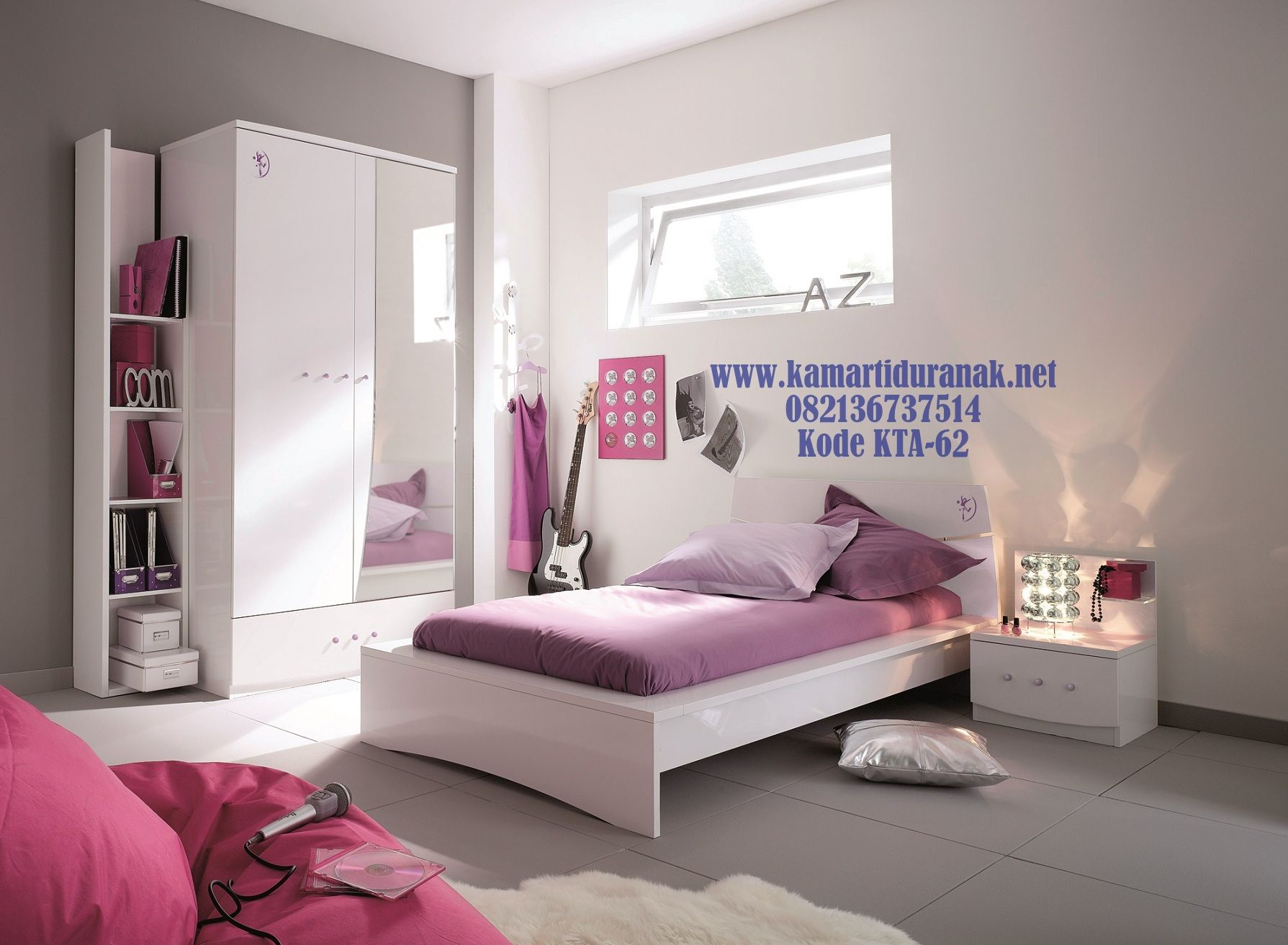 Bed cover my love anak - Desain Kamar Set Anak Minimalis Ungu Modern Simple Naura Konsep Kamar