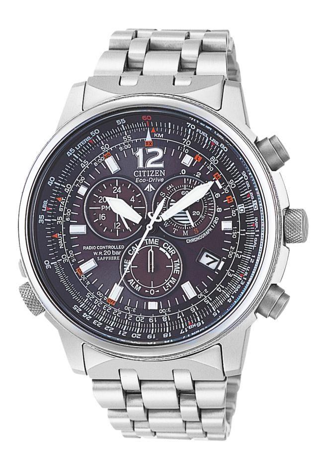 bca0258ae32 Citizen AS4050-51E Citizen Eco Drive radio controlled men´s chronograph  titanium - €595.00