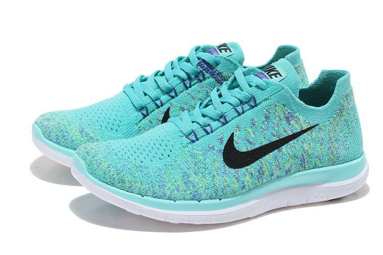 newest 74abb 441f3 New Nike Free 4.0 Flyknit Light green - black