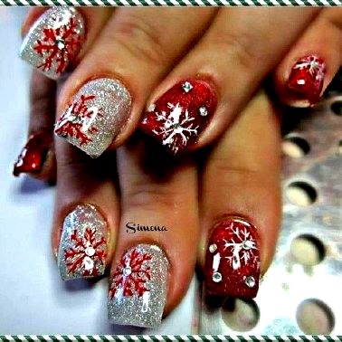 modern christmas nails ideas02 in 2020  christmas nails
