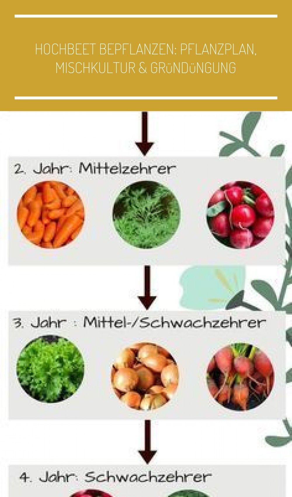 Pflanzplan Hochbeet Was Ihr Beim Anpflanzen Von Pflanzen Im Hochbeet Beachten Solltet Pflanzplan Giardino In 2020 Outdoor Gardens Treble Crochet Stitch Vegetables