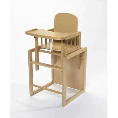 The Poppy Plus Deluxe Wooden High Chair that converts to a