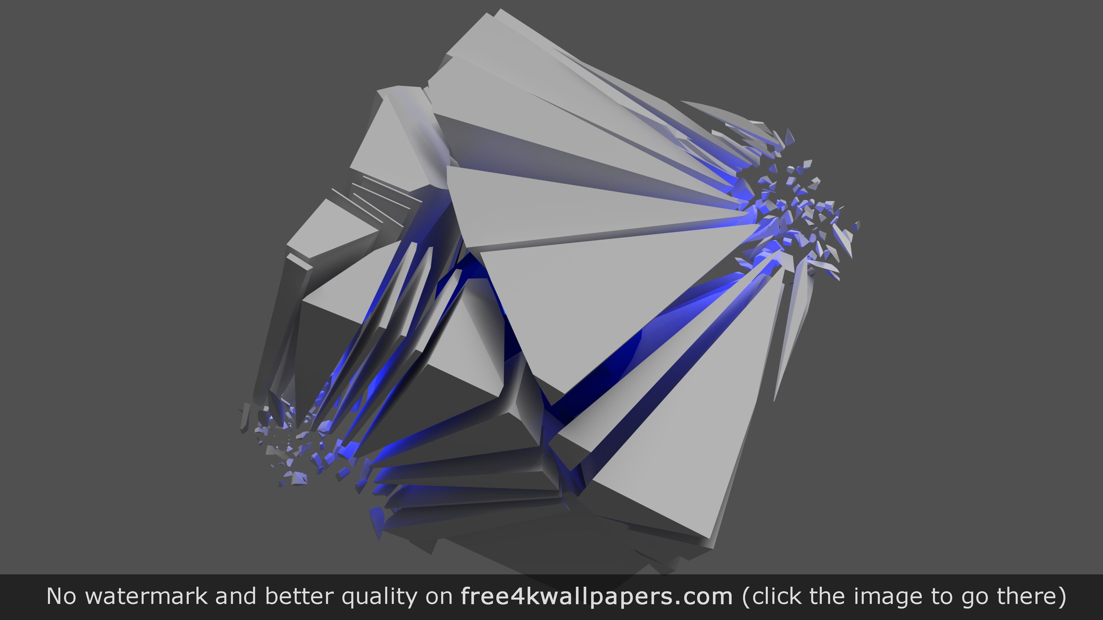 3D Abstract Explosion Wallpaper