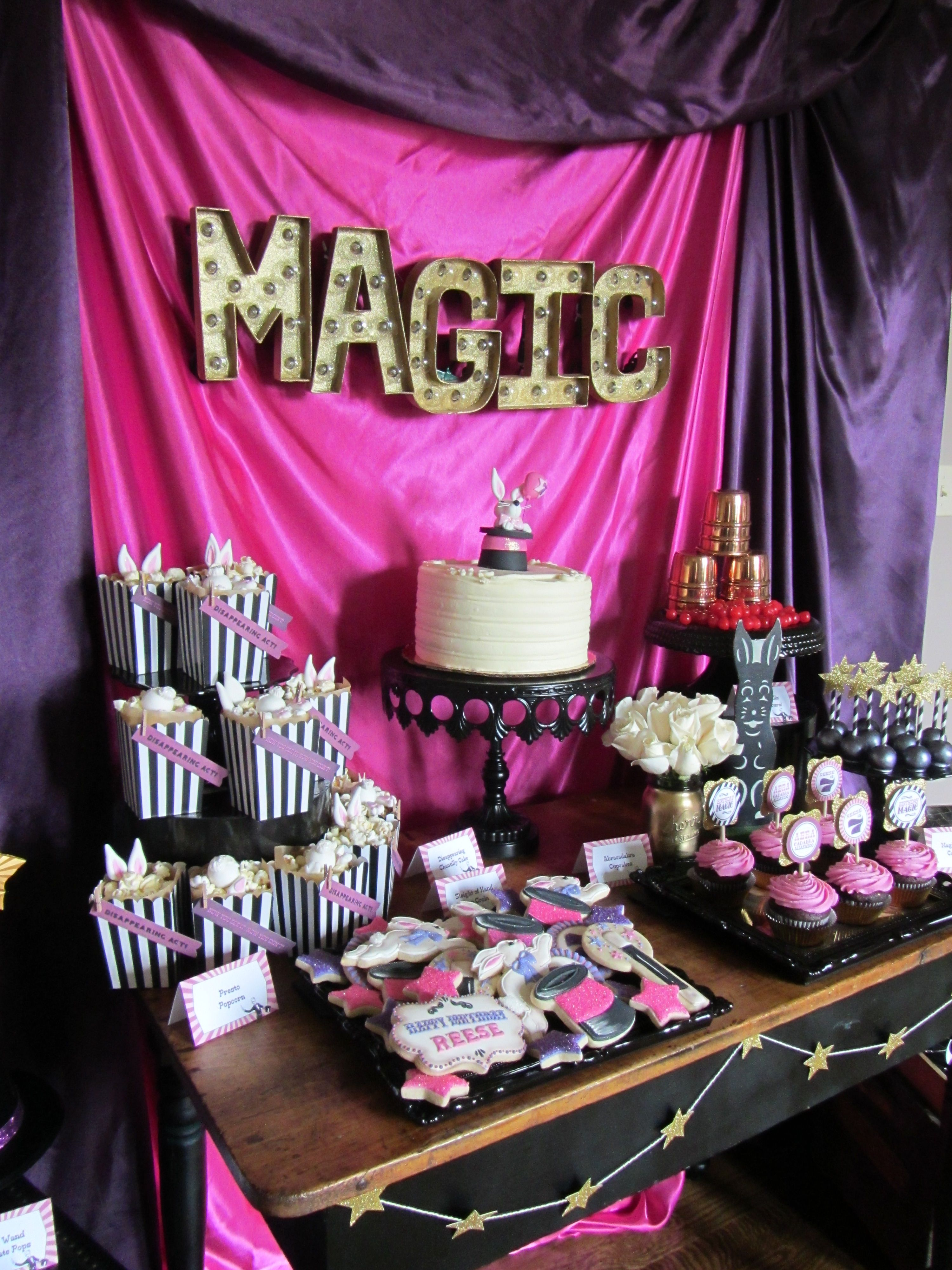 "HAPPY BIRTHDAY MAGIC PARTY MAGICIAN WAND 18/"" FOIL BALLOON"