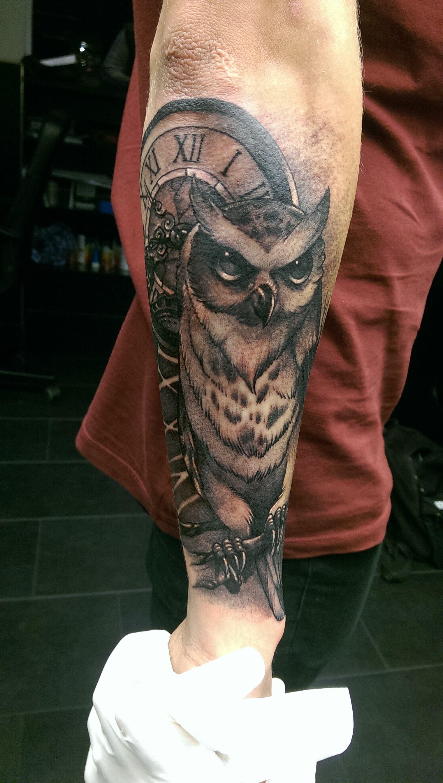50 Owl Sleeve Tattoos For Men – Nocturnal Bird Design Ideas