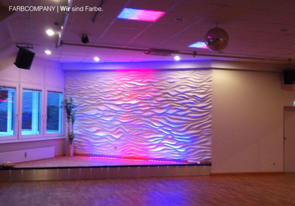 Wandgestaltung Mit Gips wandgestaltung mit gips als wellenmuster farbcompany de
