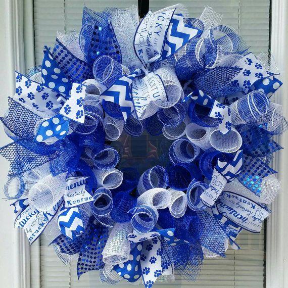 Kentucky Wildcats Wreath Kentucky Basketball by WreathsByRobyn