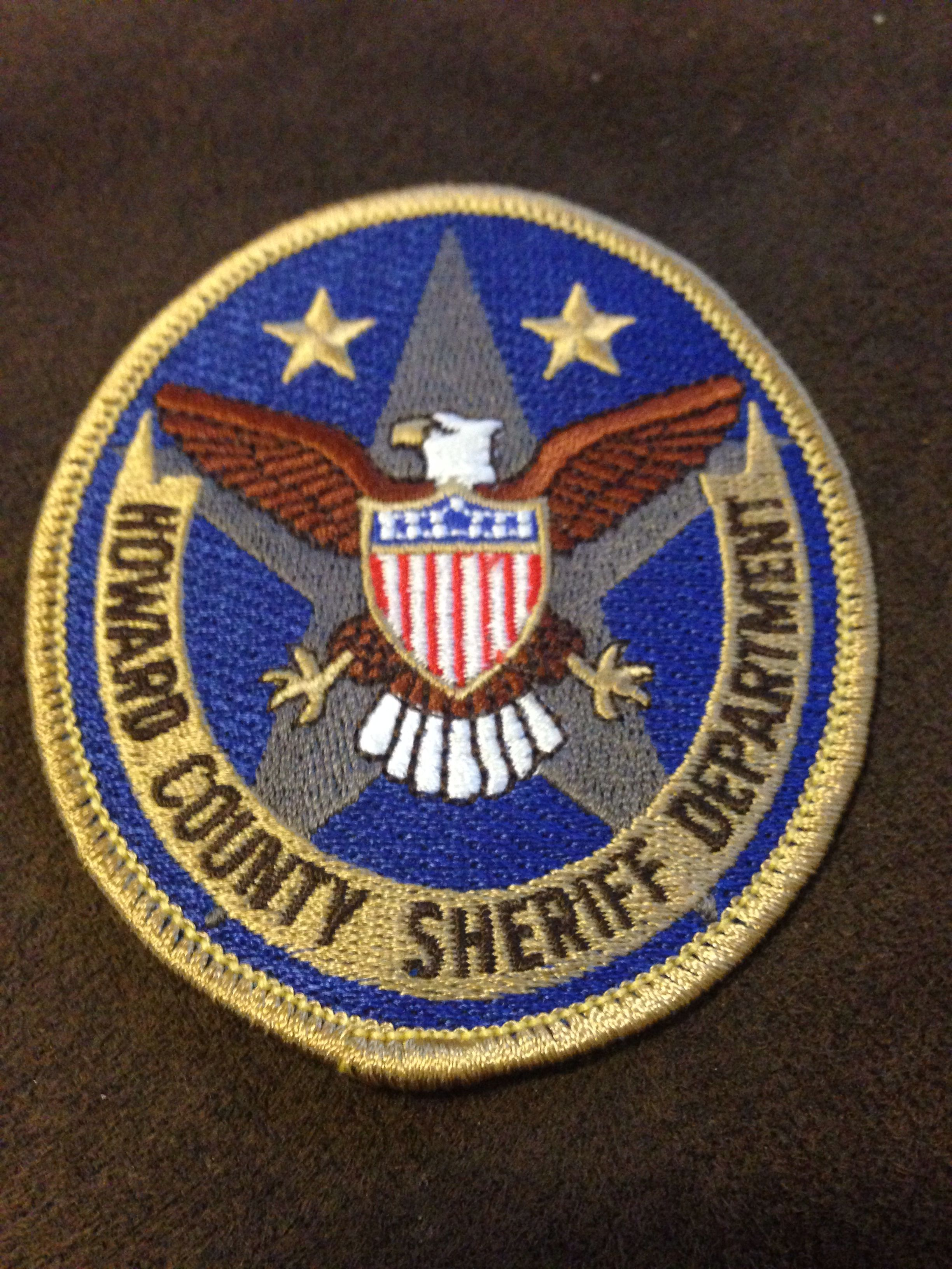 Howard County Sheriff's Department Police patches