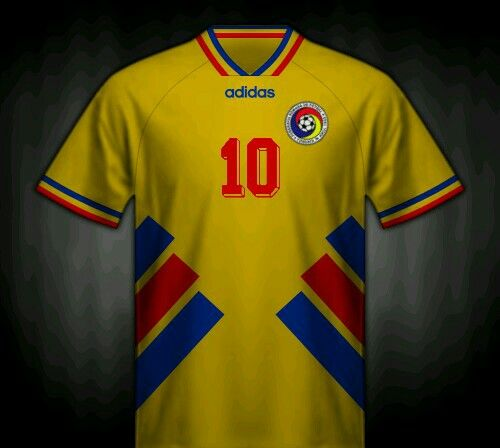 Romania home shirt for the 1994 World Cup Finals.   Camisas