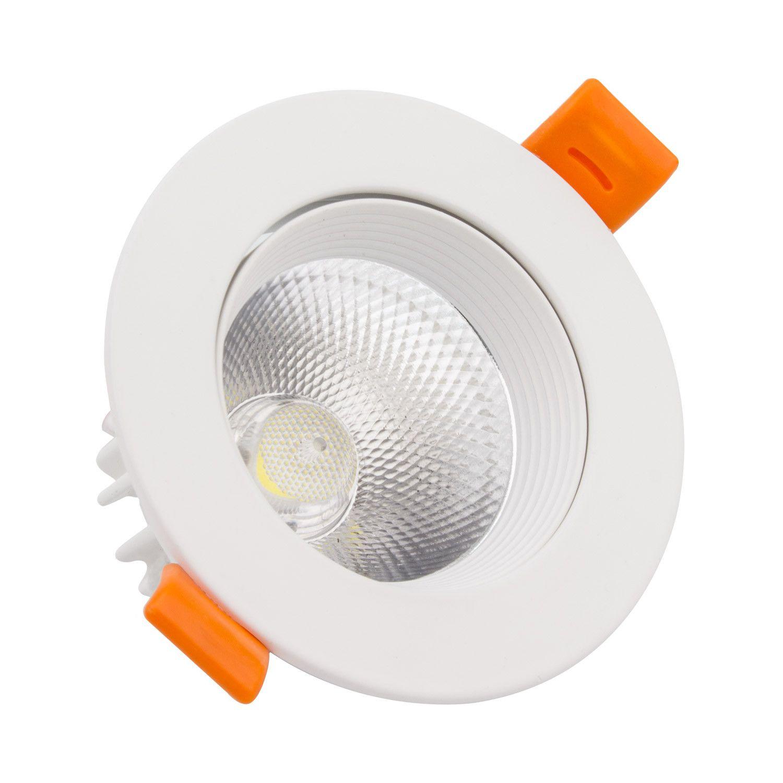 Foco Downlight LED COB Direccionable Circular 15W Blanco ...