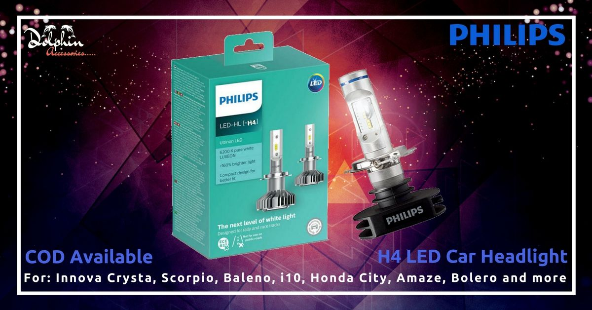 Philips H4 LED Car Head Light Maximum Brightness 2