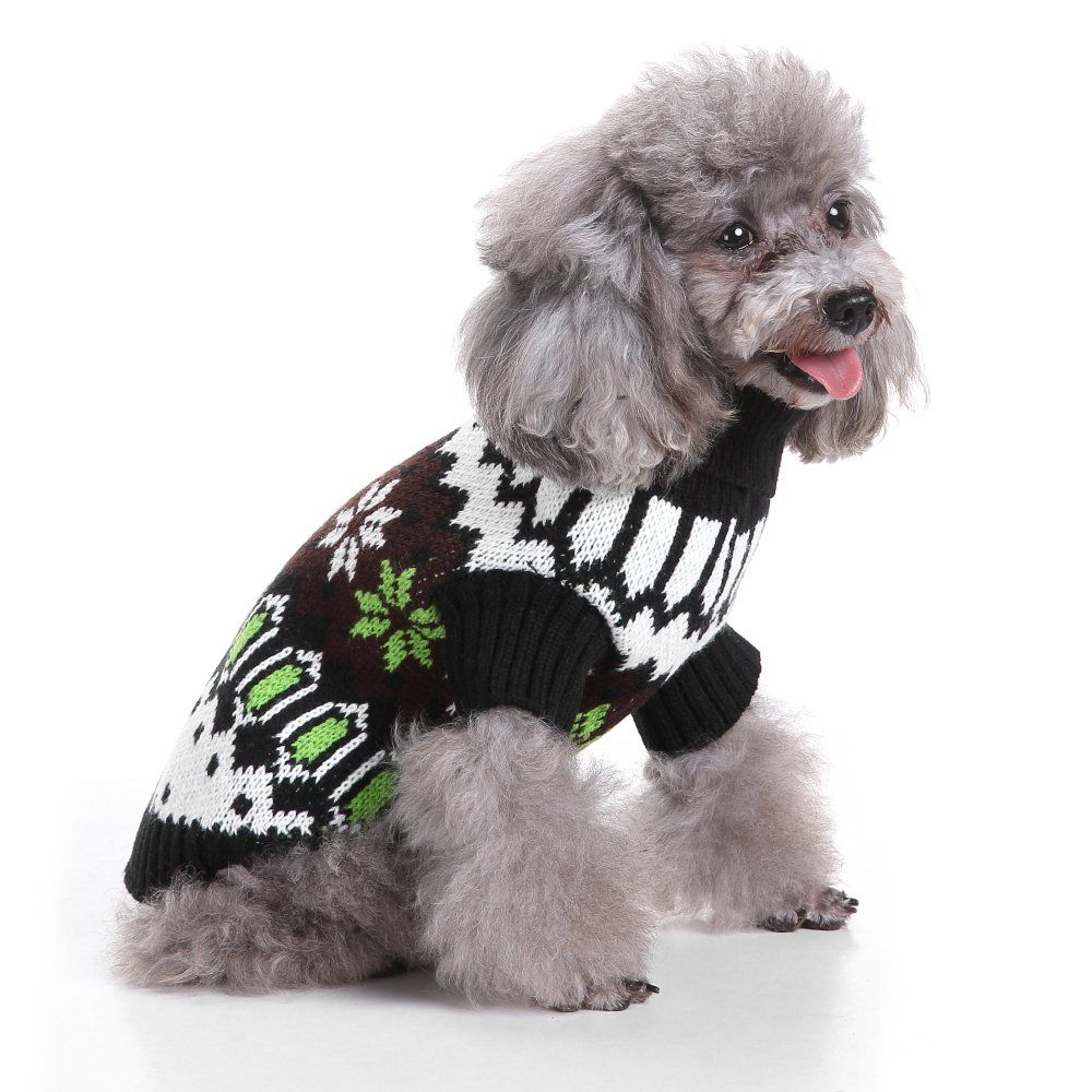 Ranphy Small Dog Christmas Sweater Jumper Pet Snowflake