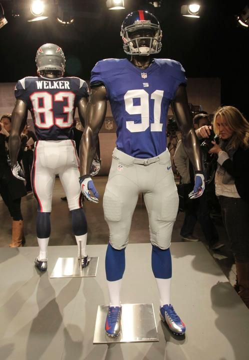 The new New York Giants uniform is displayed on a mannequin in New York 891aa9cd9