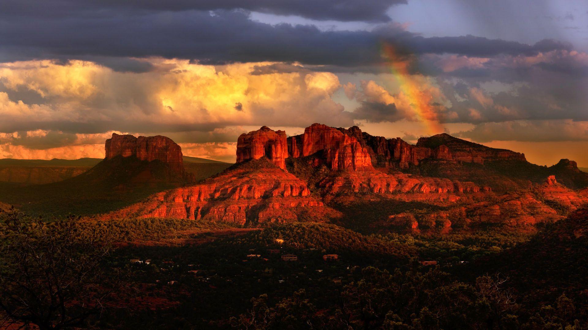 wallpaper sunset mountain arizona - photo #45