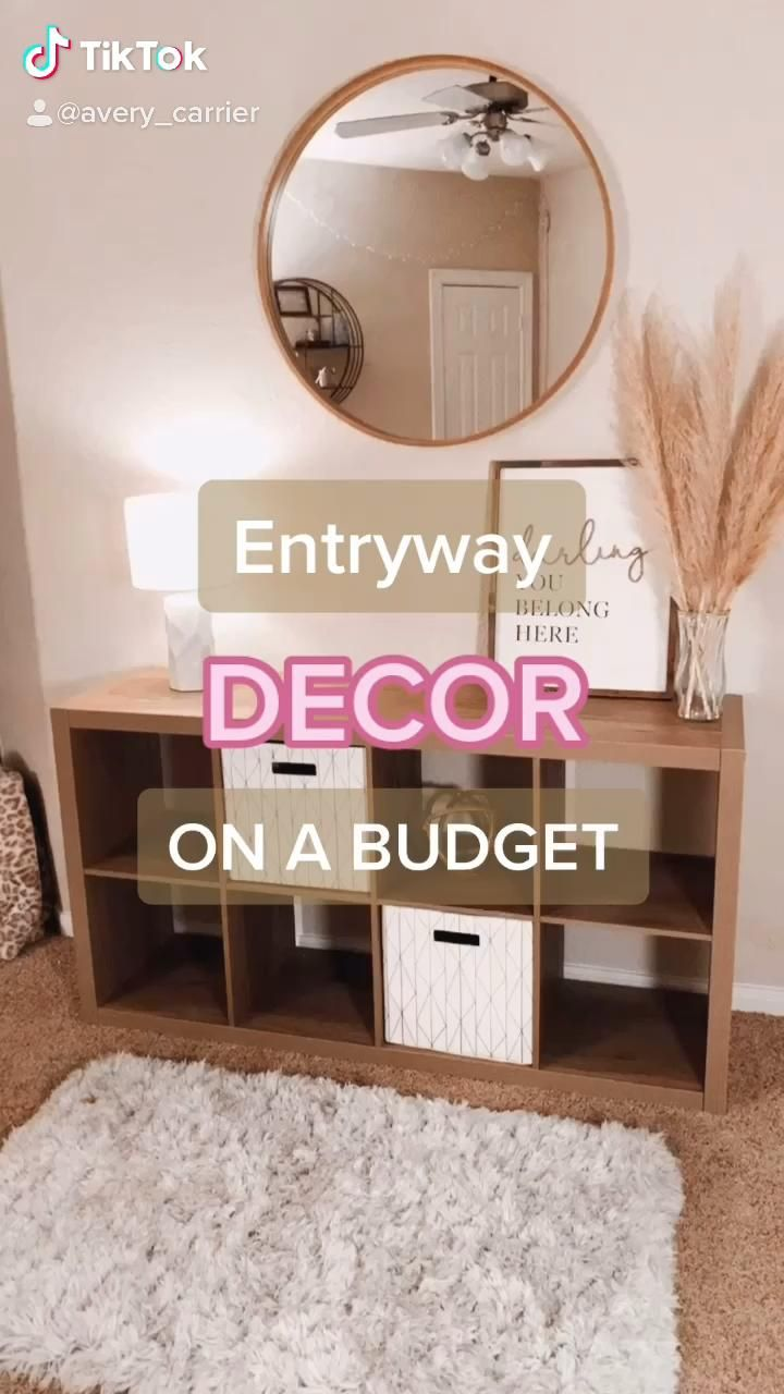 How I Decorated My Entryway on a Budget