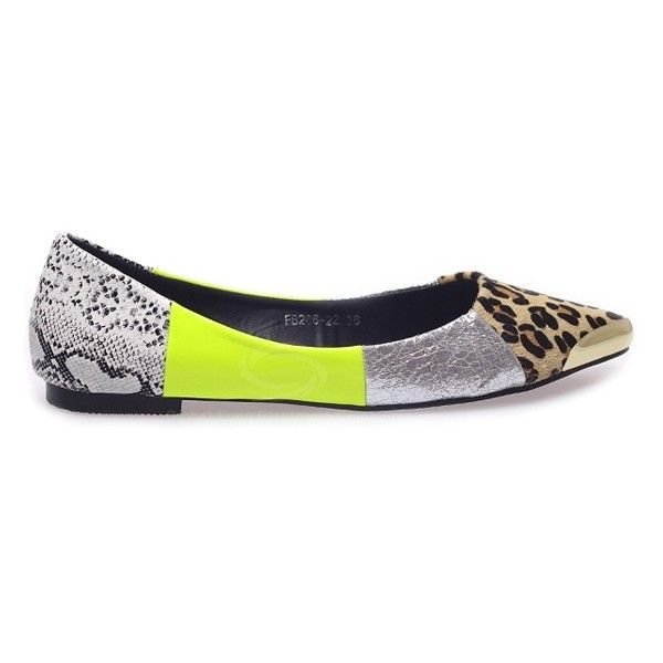 Trendy Casual Women's Flat Shoes With Color Matching Panther Print and Metal Design found on Polyvore