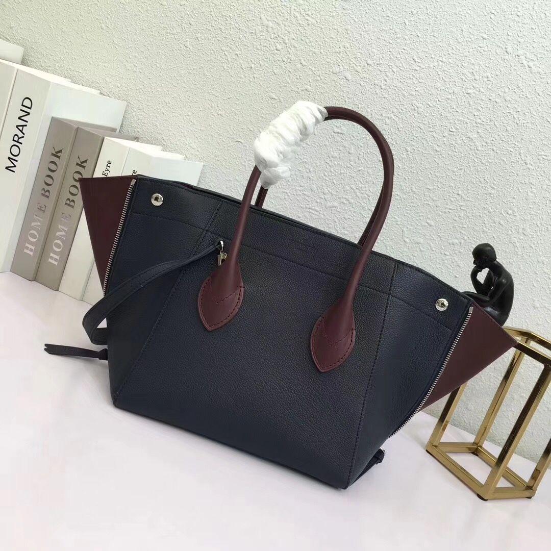 1c1a78872962 LV Louis Vuitton M54843 Freedom Tote Handbag Real Leather Bag  350 BLUE