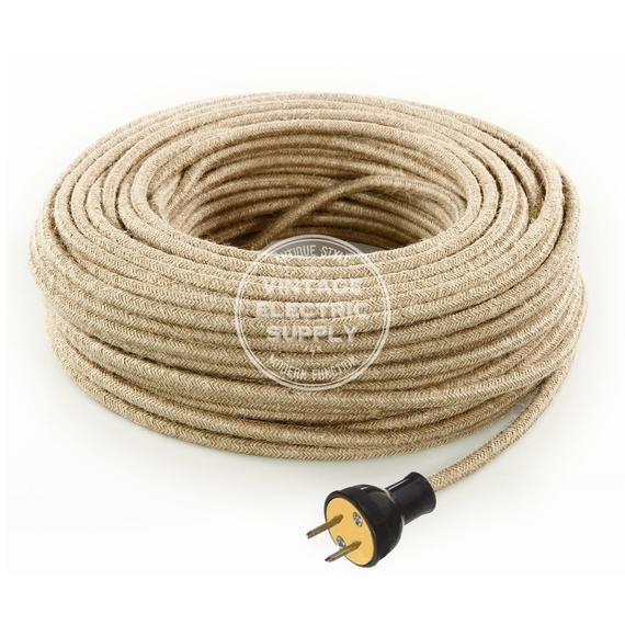 Admirable Natural Jute Cordset Cloth Covered Round Rewire Set Antique Lamp Wiring Digital Resources Remcakbiperorg