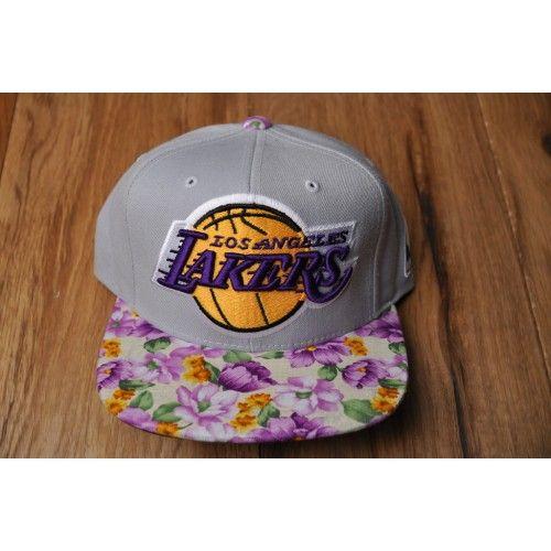 a577b5f4211 for  rachel thomas Los Angeles Lakers Custom Floral Print Snapback ...
