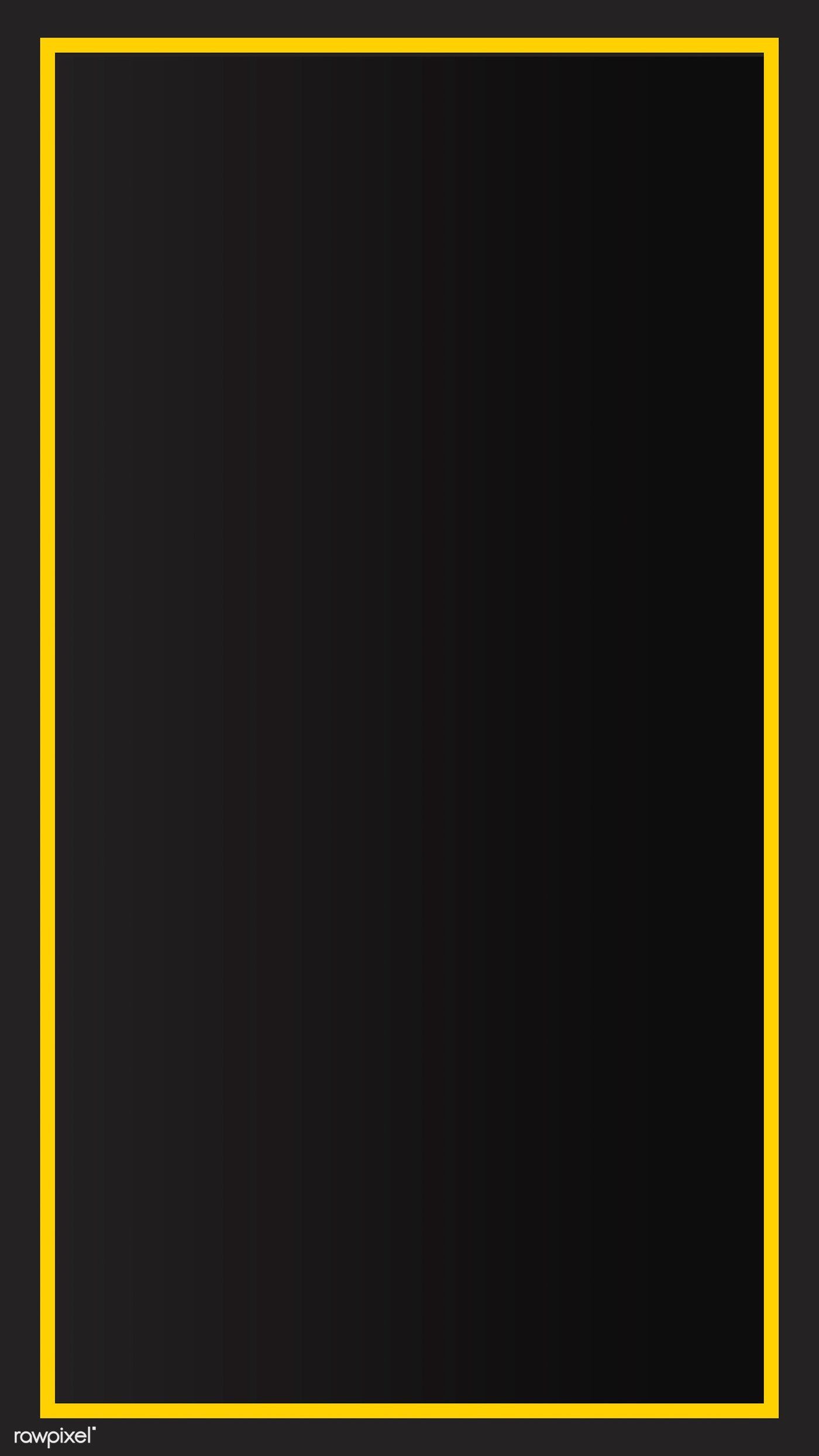 Yellow Border Black Mobile Phone Wallpaper Vector Premium Image By Rawpixel Com B Cute Mobile Wallpapers Iphone Wallpaper Yellow Black Background Wallpaper