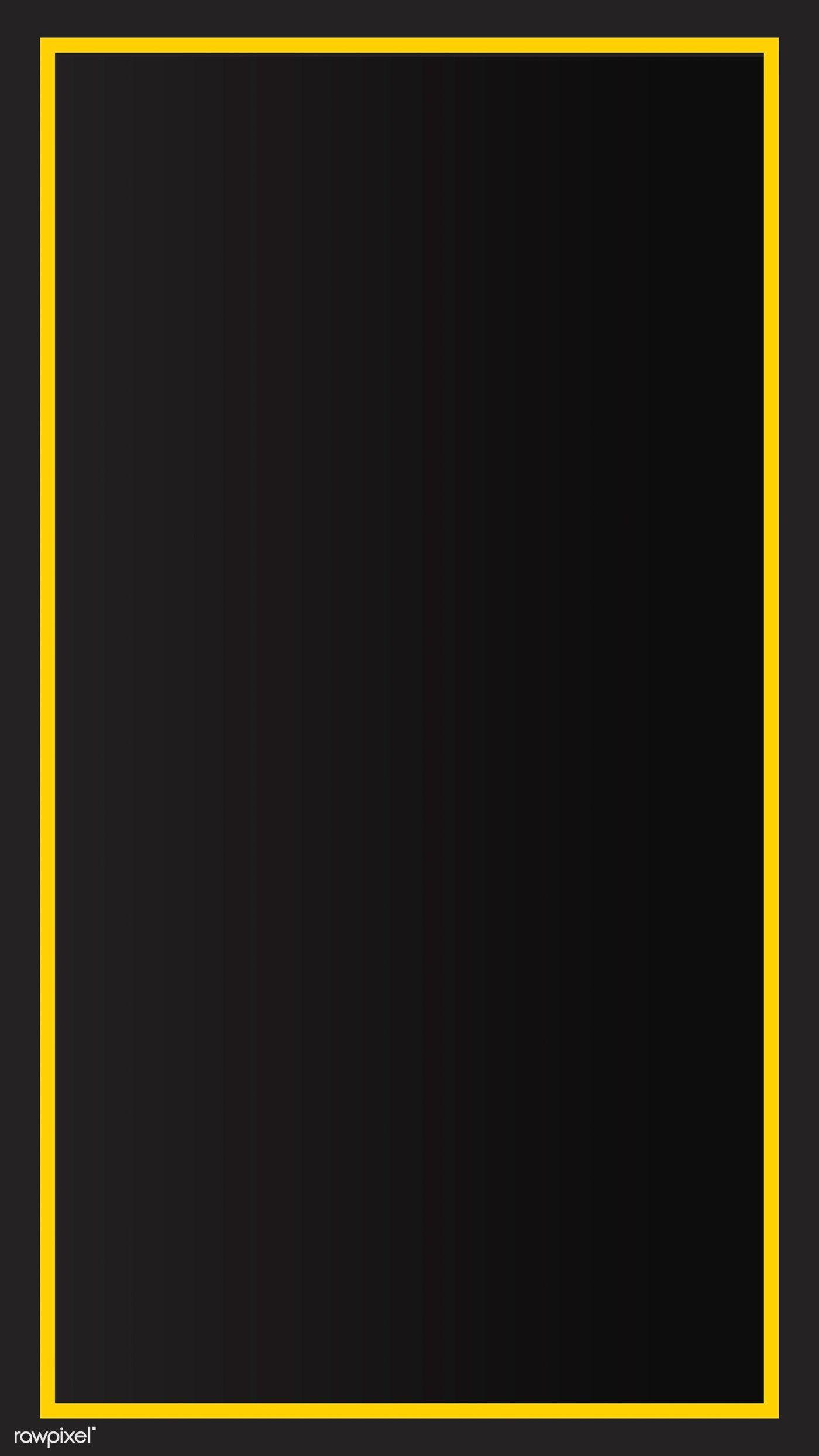 Download Premium Image Of Yellow Border Black Mobile Phone