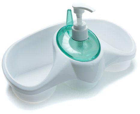 amazon: kitchen sink organizer detergent dispenser pump with