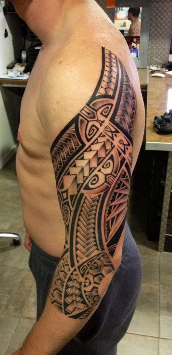 a5a66cec0 45 Awesome Half Sleeve Tattoo Designs | POLYNESIA | Hawaiian tattoo ...