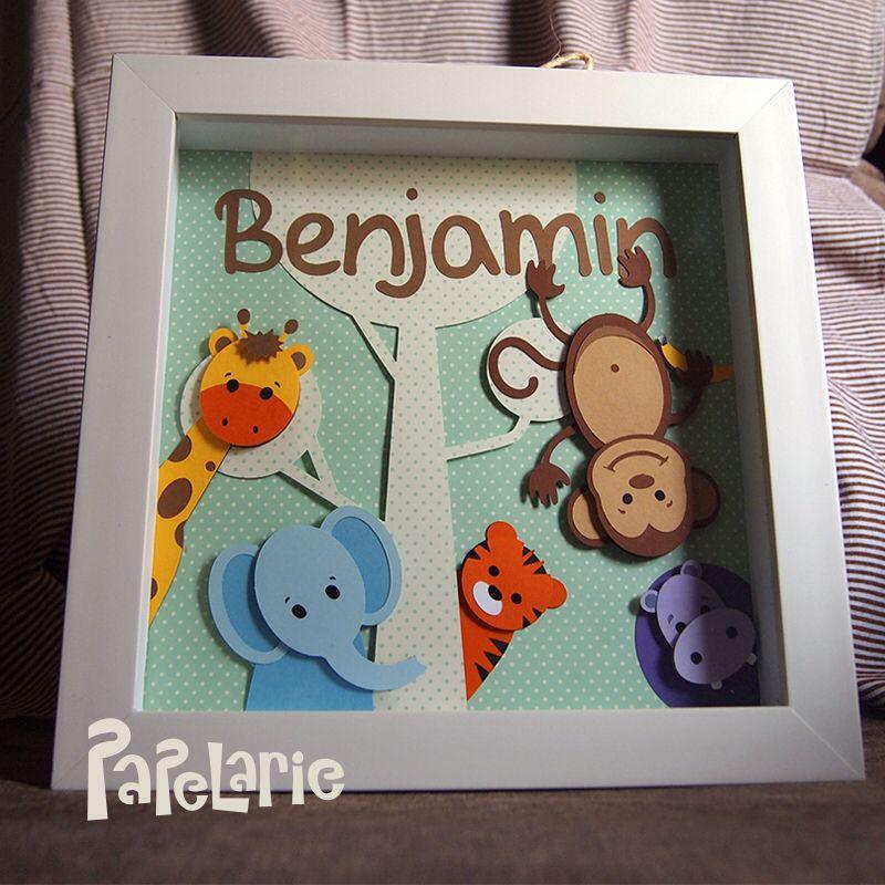 Porta de maternidade tema Safari! www.papelarie.com.br