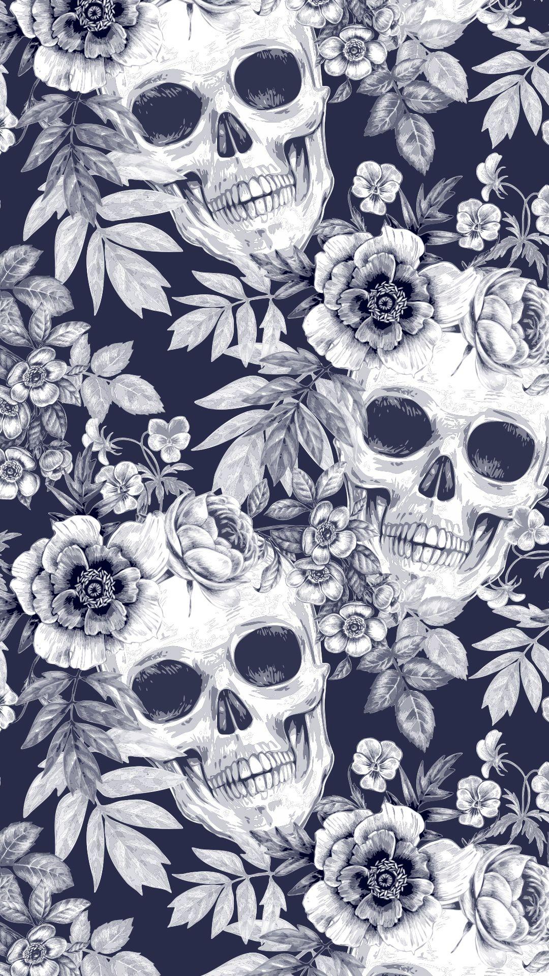 Stylish Pattern Background Skull Wallpaper Iphone Gothic Wallpaper Skull Wallpaper