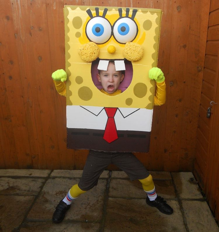spongebob schwammkopf kostüm kind diy #costume #fasching #carnival ...