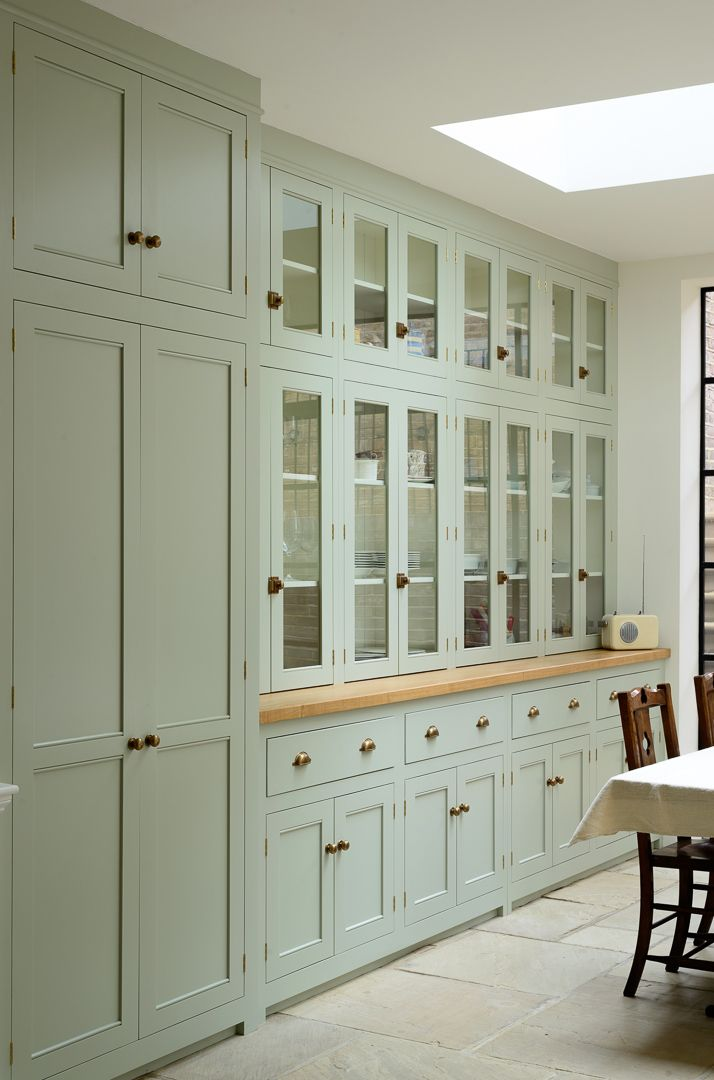 A Whole Wall Of Bespoke Fitted Devol Cupboards Modern Country