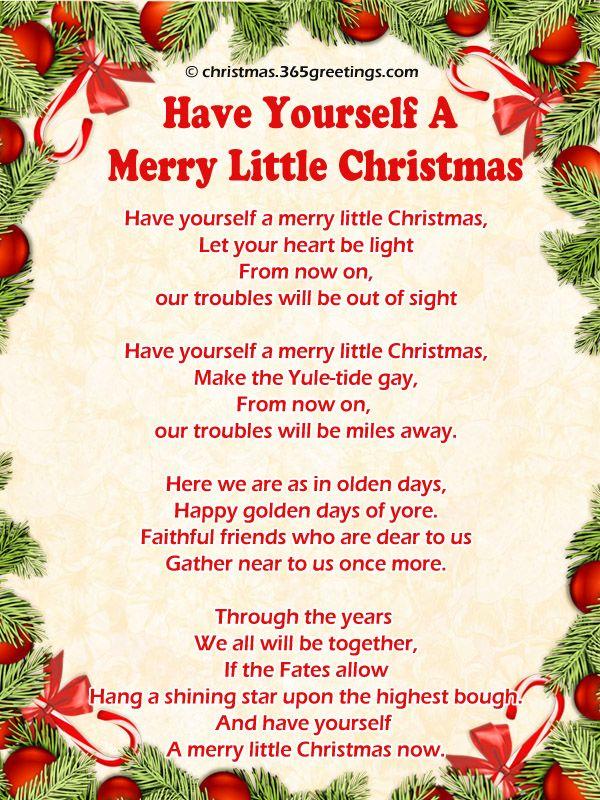 List Of Christmas Carols Christmas songs lyrics