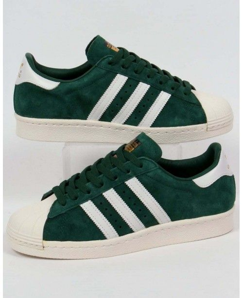 Adidas Originals adidas Superstar 80s Deluxe Trainers in Dark Green  shelltoe Green Official Discount of sixty percent eba43fd37