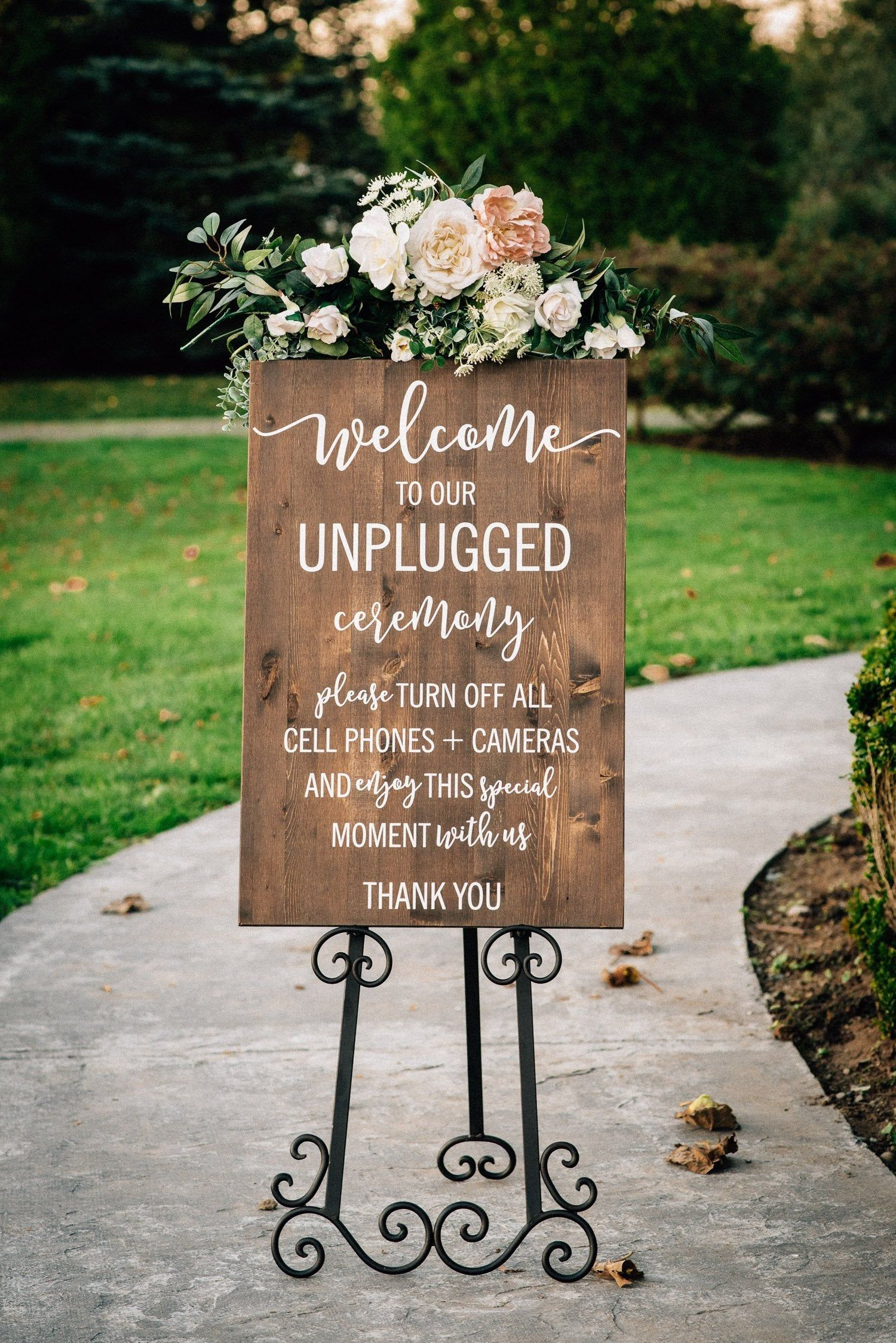 Unplugged Wedding Sign   Unplugged Ceremony Sign  Vertical | Etsy