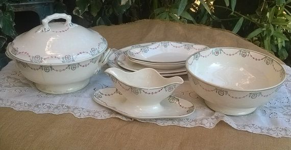Dinnerware Set French Empire Style Stencil Porcelain Soup Tureen ...