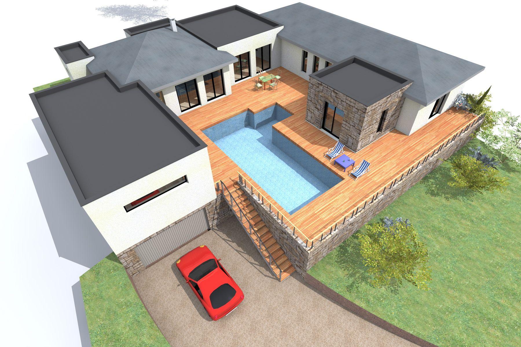 Maison contemporaine sous sol maisons coup de coeur maison plan maison et maison bois - Plan maison bois contemporaine ...