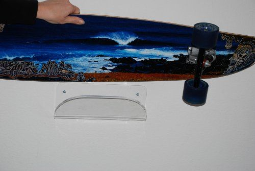 Skateboard Storage Display Rack   Invisible Clear Wall Mount Display