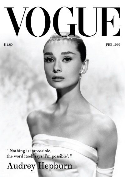Vogue vintage cover audrey hepburn quote advertisement print poster canvas french vintage art deco by printartworks on etsy