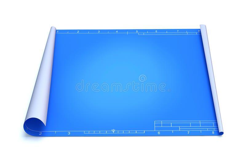 Blueprint Empty Blueprint 3d Illustration Over White Background Spon Blueprint Empty Blueprint Background White Ad