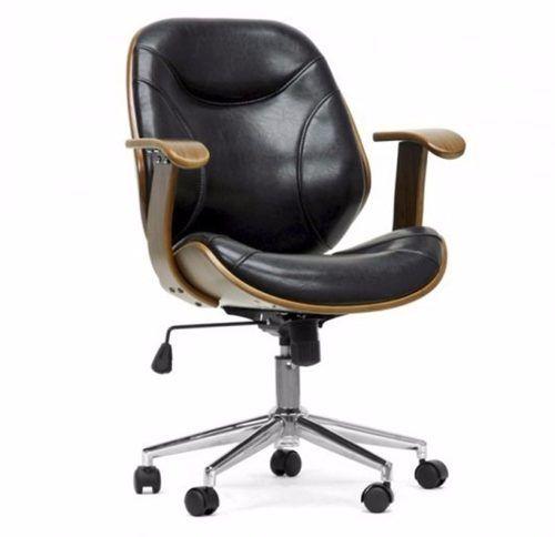 Cadeira Escritório Giratória Em Couro E Madeira Com Relax - R$ 1.05072  sc 1 st  Pinterest & Cadeira Escritório Giratória Em Couro E Madeira Com Relax - R$ 1.050 ...
