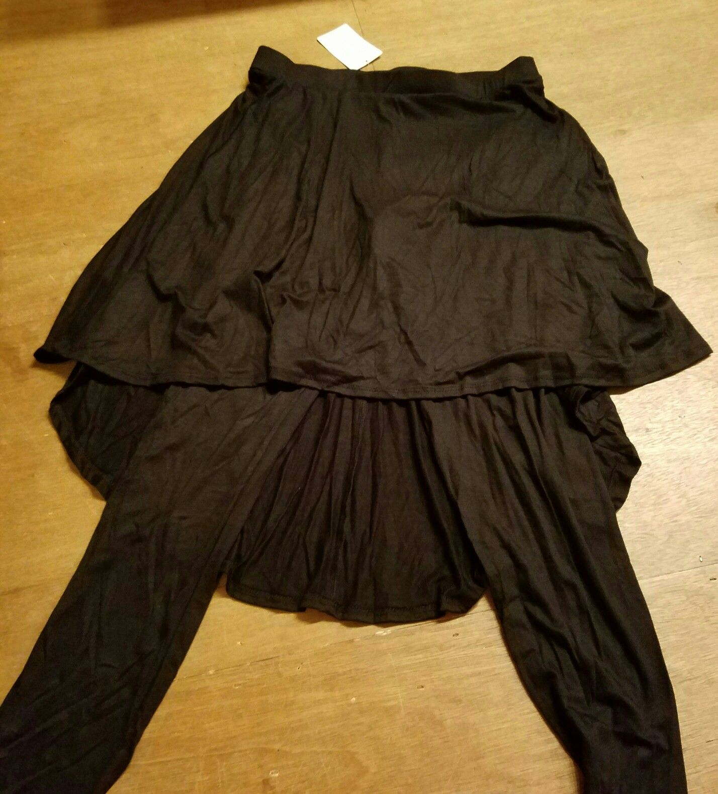 Black legging with attached skirt. Several for sale.