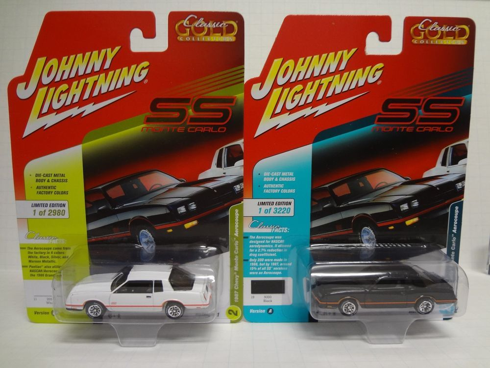 Johnny Lightning 1987 Chevy Monte Carlo Set Of 2 Classic Gold 2018
