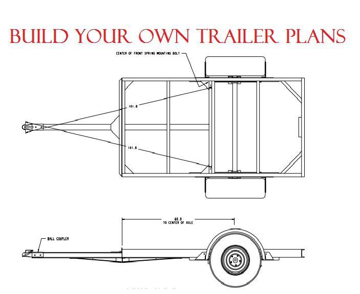 Diy plans woodwork shed sup boat 4 x 8 trailer quad buggy smoker bbq ...