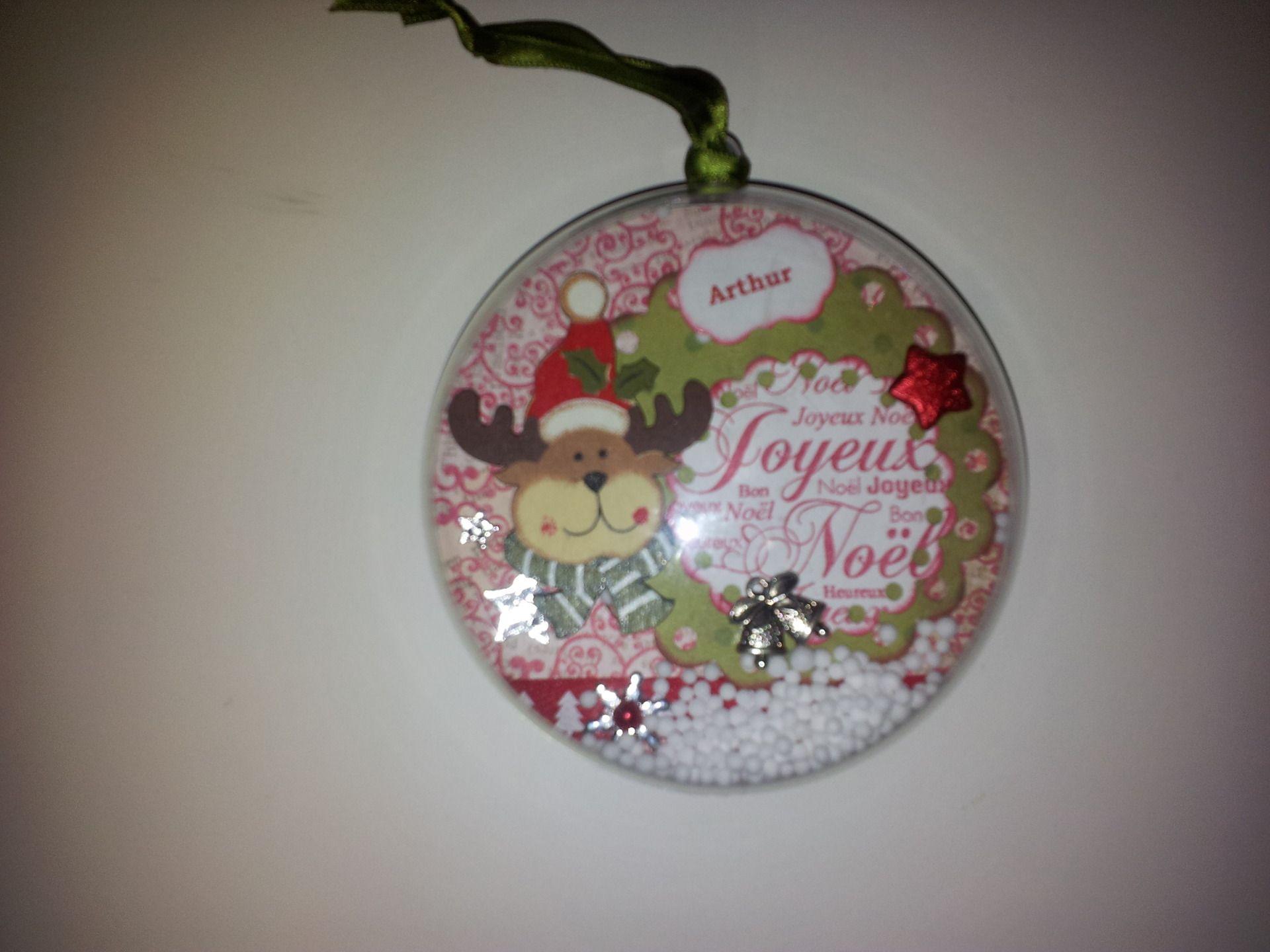 Boule de Noël   decoration scrapbooking   Réservée   Vendu